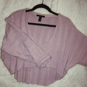 forever 21 lavender cropped sweater